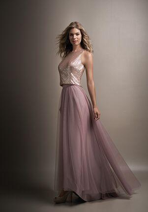 a52f53f90b9 L144017 Long High Neck Belsoie Tiffany Chiffon Bridesmaid Dress -  Source.  Belsoie
