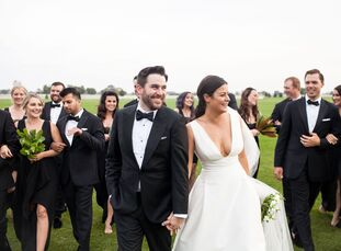 Borrowing cues from Kate and Will's royal wedding, Jessica Sommesi (31 and a small business owner) and Billy Kennedy (32 and an asphalt lab engineer)