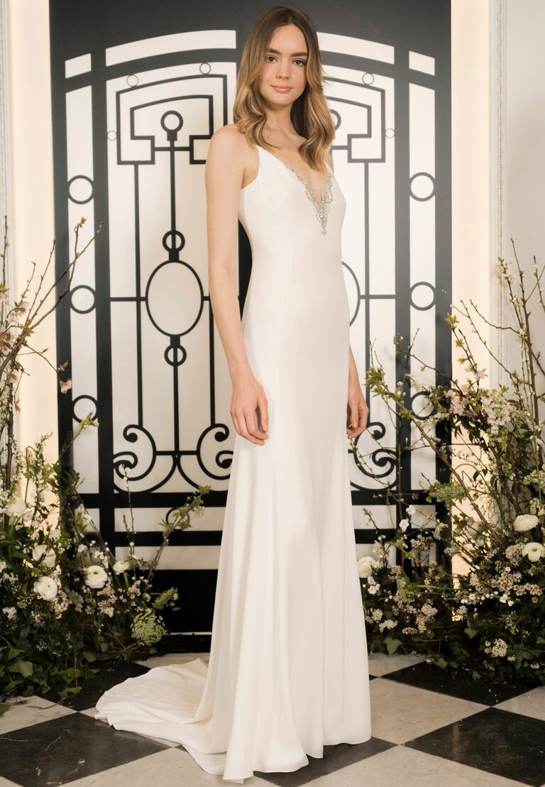 Jenny Packham simple sexy wedding dress