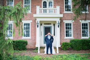 First Look Before New Castle, Indiana, Wedding