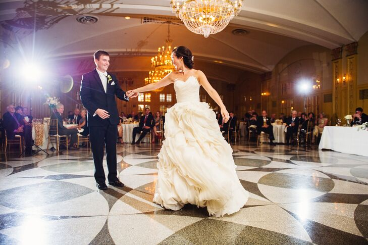 """When Keith and I talk about our wedding day we agree that one of our favorite parts of the night was our first dance,"" Christine says. ""It was to Ellie Goulding's 'How Long Will I Love You' and such an amazing time to connect together as husband and wife."""