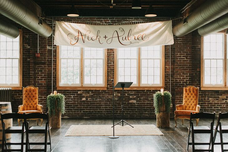 Hand-Lettered Ceremony Banner