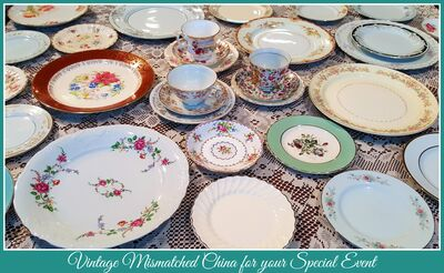 This 'n'  That China Rentals - Vintage Mismatched China