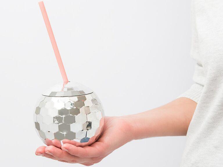 Disco cup bridal shower favor idea