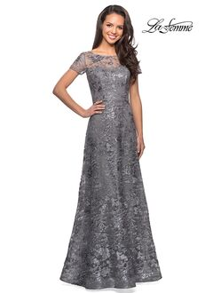 La Femme Evening 27839 Blue Mother Of The Bride Dress