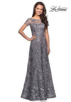 La Femme Evening 27839 Blue Mother Of The Bride Dress