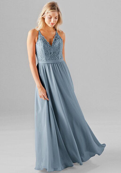 Kennedy Blue Iris V Neck Bridesmaid Dress