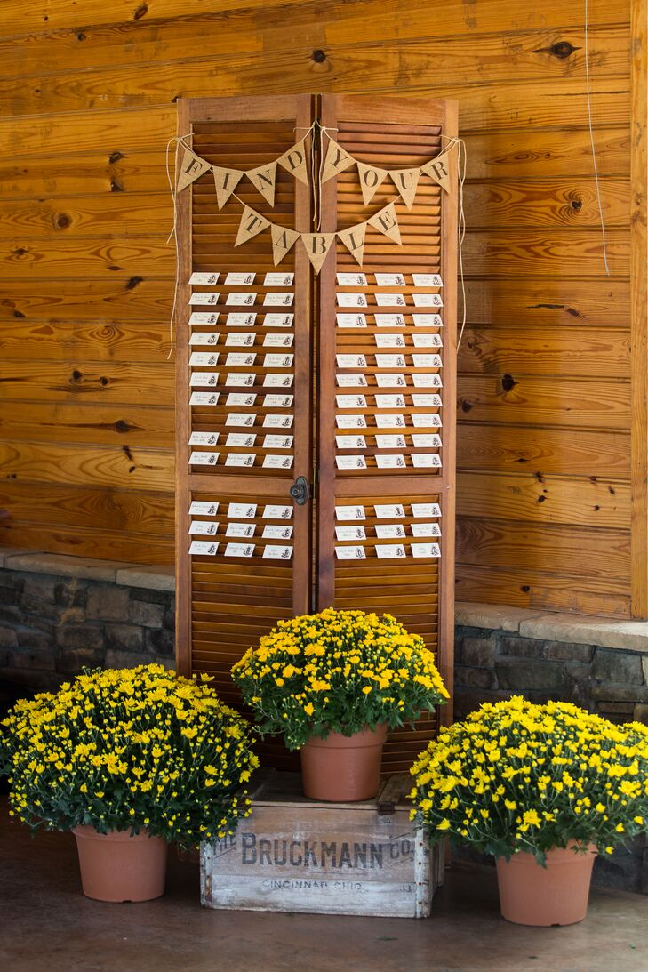 Rustic Shutter Escort Card Display