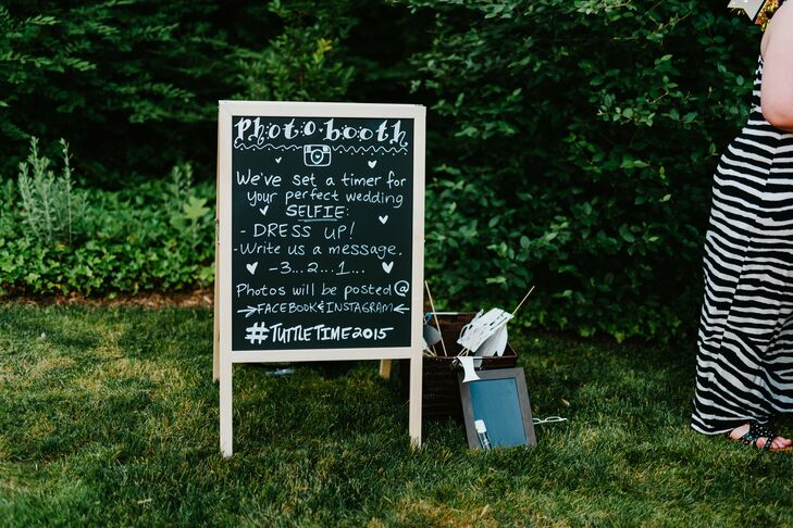 DIY Chalkboard Photo Booth Sign
