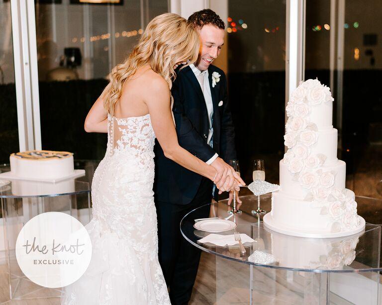 alex bregman wedding cake cutting