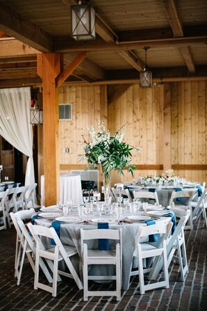 Tall Eucalyptus and Stock Centerpieces