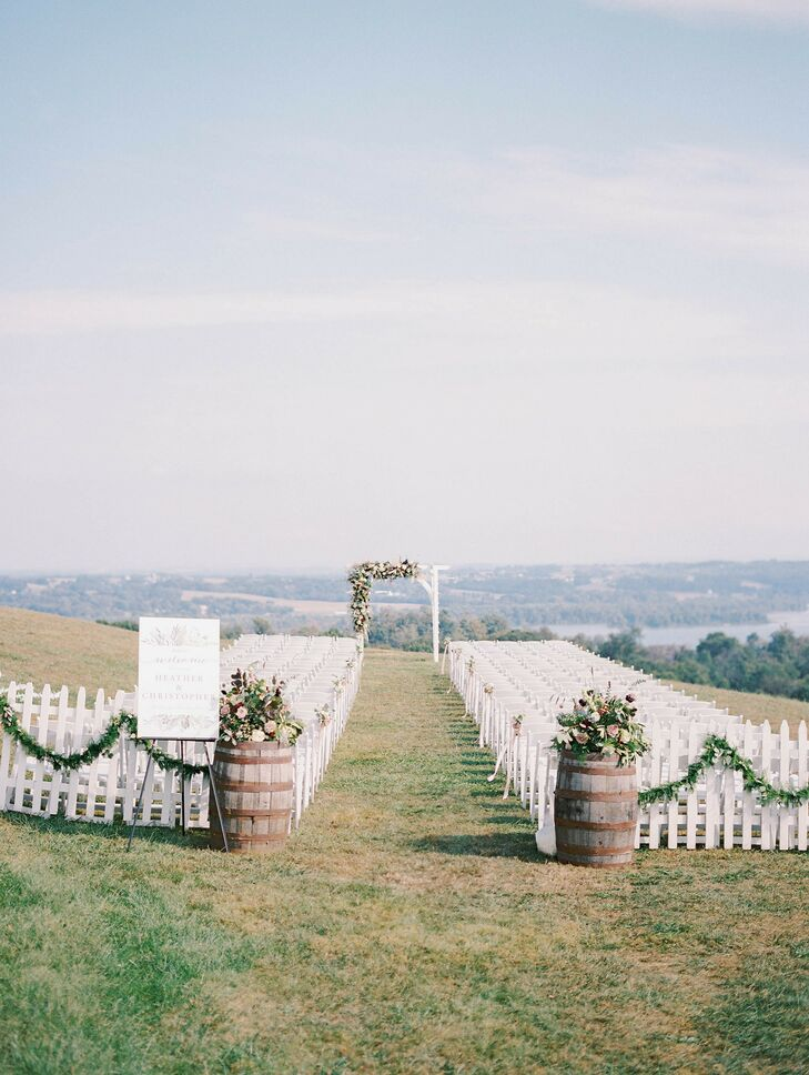 Rustic Ceremony Setup at Lauxmont Farms in Wrightsville, Pennsylvania