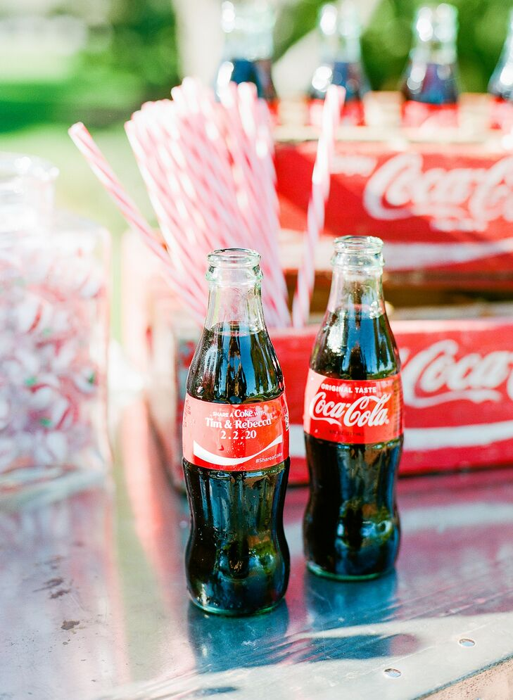 Coca-Cola During Cocktail Hour at The Adams Estate in Lake Alfred, Florida