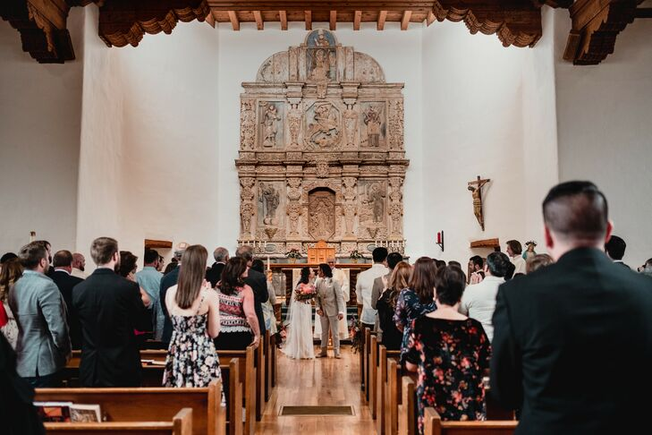 Traditional Catholic Ceremony in Rustic Southwestern Church