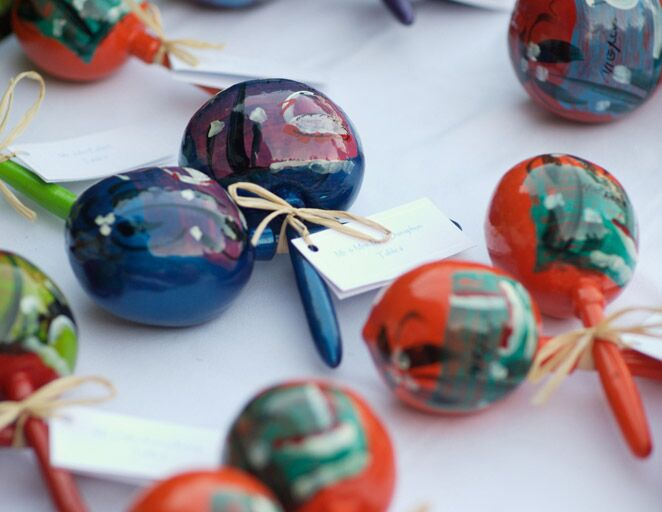 creative wedding reception favors personalized maracas