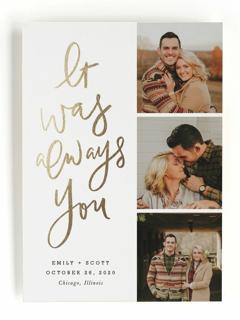 It Was Always You save-the-dates,