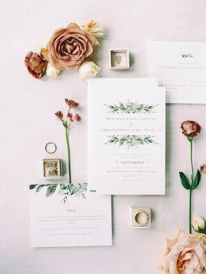 Romantic Invitations for Wedding at Lauxmont Farms in Wrightsville, Pennsylvania