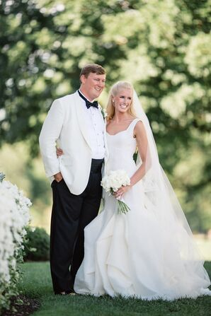 Black-and-White Tuxedo and Mermaid Gown