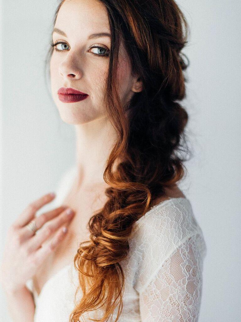 wedding updos loose fishtail braid