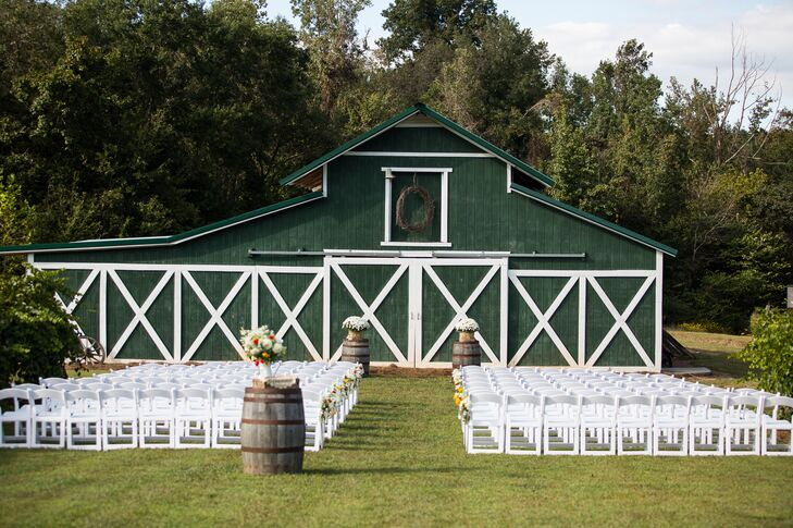 Rustic Green Barn Ceremony