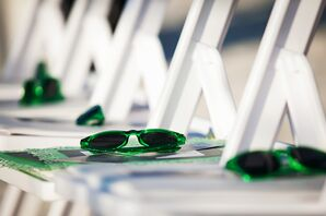 Green Sunglasses For Ceremony Guests