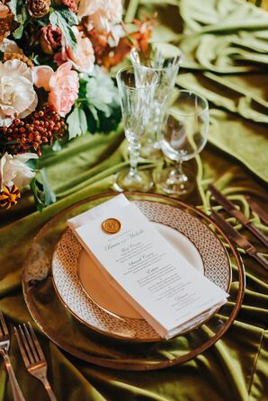Elegant Place Setting with Menu