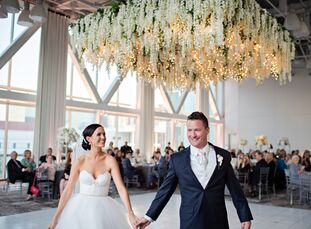 Flowers were at the forefront of Sarah Chandler (32 and a teacher) and Andy Snyder's (34 and works in medical sales) wedding, which fell just one week