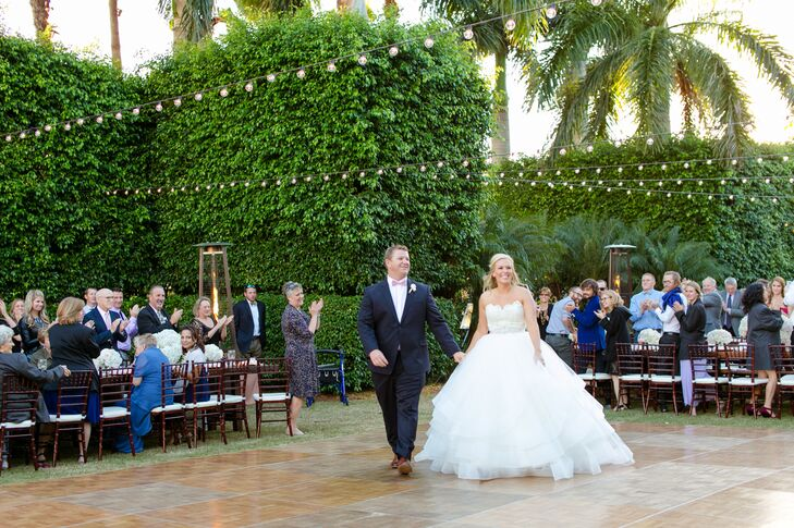 Lauren Knott (27 and an associate merchant) and Andrew Pritchett's (26 and in real estate) wedding was completely customized. By