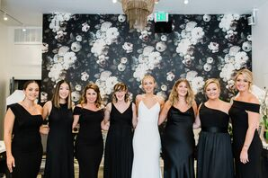 Elegant Black Bridesmaid Dresses
