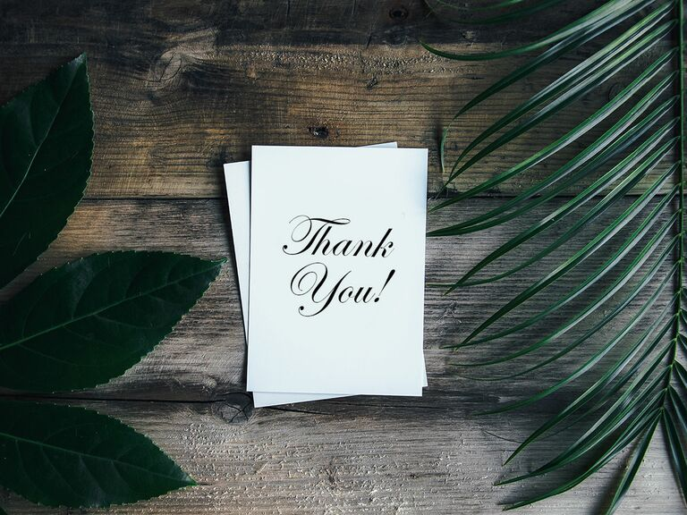 ThankYou Notes Wedding ThankYou Wording