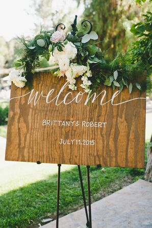 Hand-Painted Calligraphy Wooden Signs