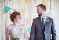 Emily Rorty and Evan Nash focused on their playful sides for their coastal spring wedding in Cape Cod with bright colors and fun-filled details.<br><b