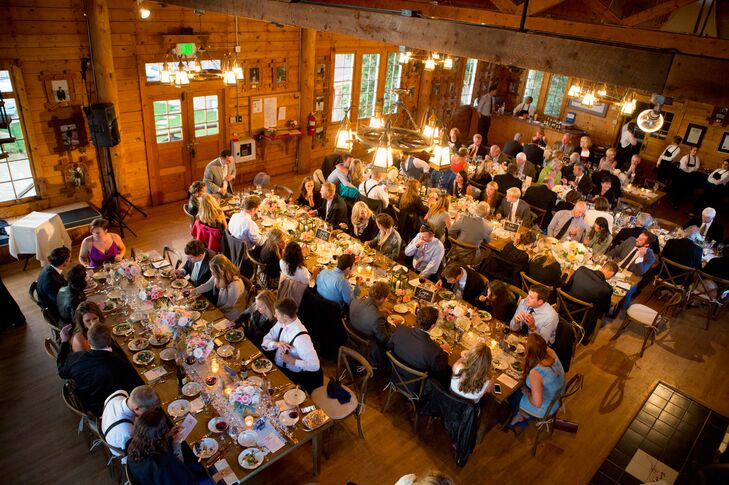 """""""The Grand Lake Yacht Club sits on Colorado's most charming fresh water lake, at the base of Rocky Mountain National Park,"""" Amy says. """"With views of the Colorado rockies, and balconies that literally hang over the lake, we knew we could bring the feel of the outdoors in by keeping our decor simple."""""""