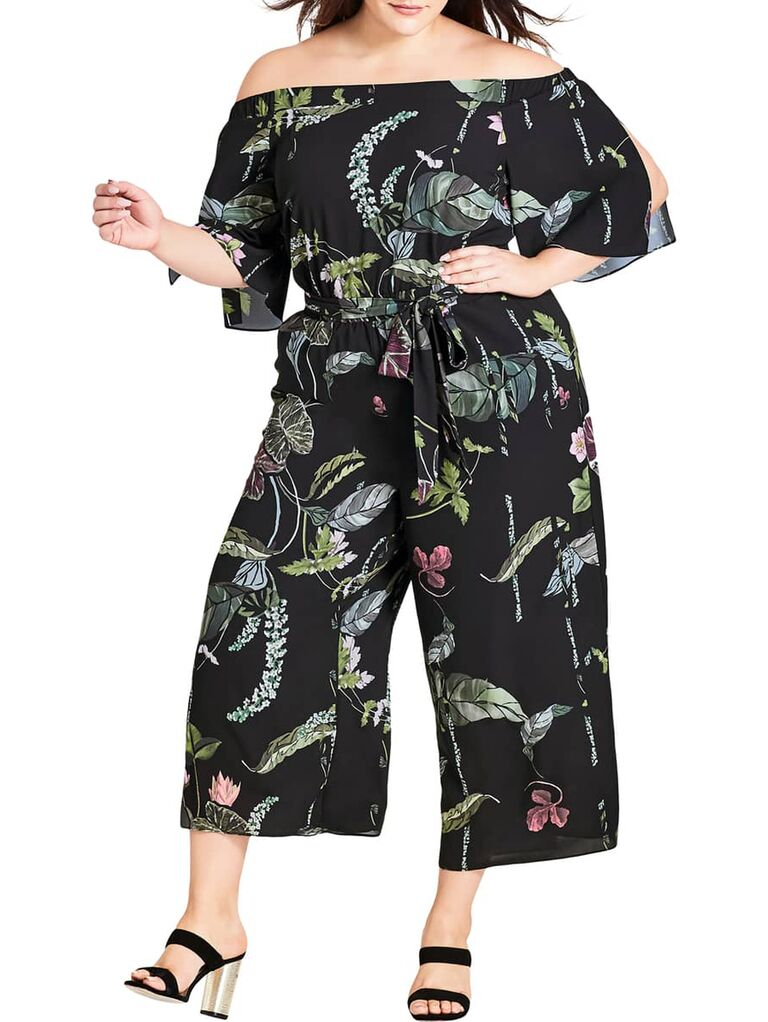 Floral jumpsuit for casual wedding dress code