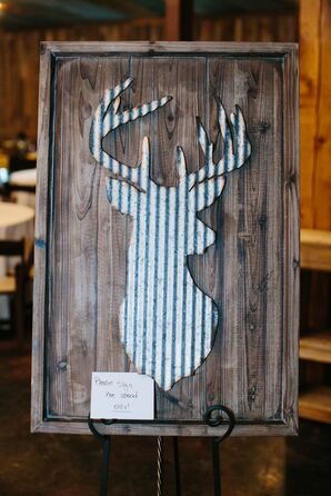 Rustic Wooden Stag Guest Book