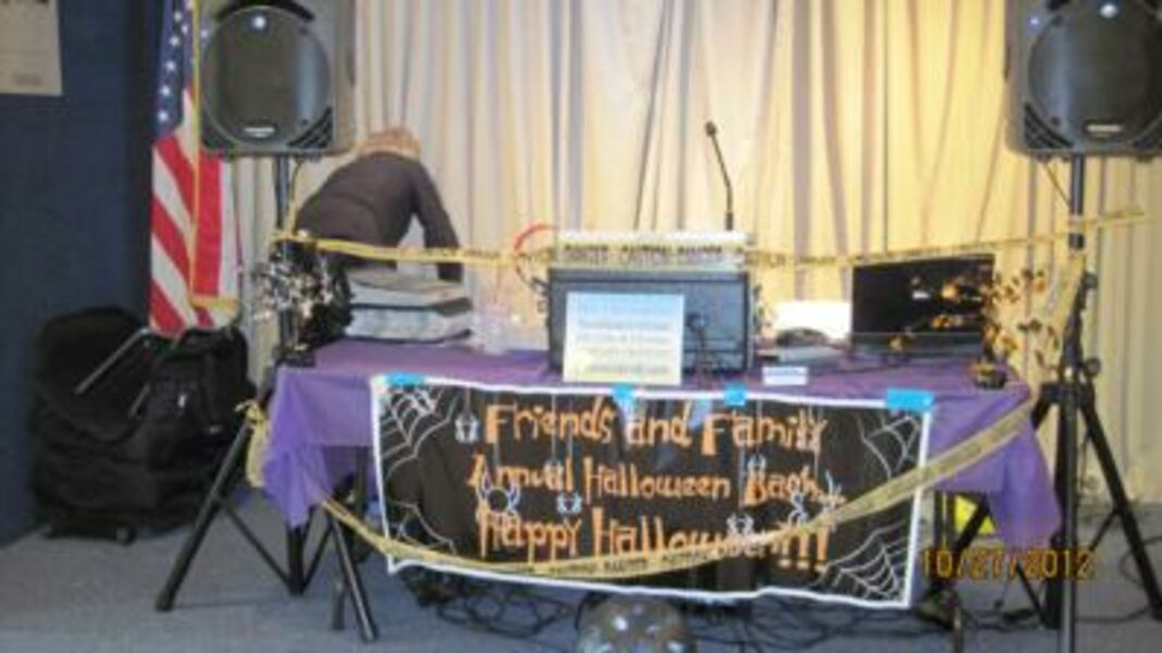 Halloween party setup