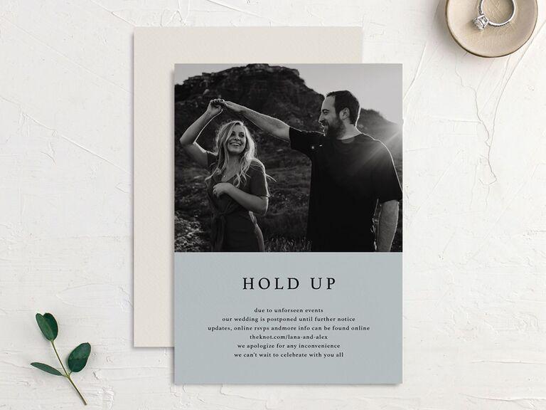 Wedding Postponement Card Elli