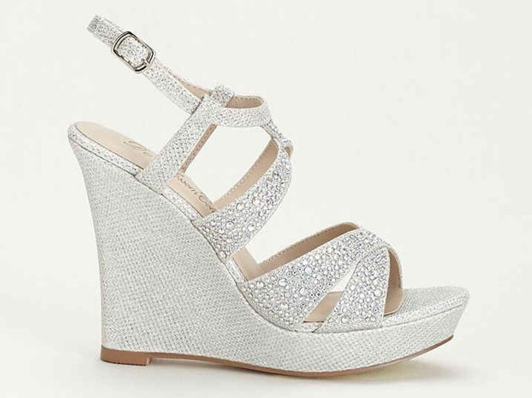 Balle8 Silver Wedding Wedges