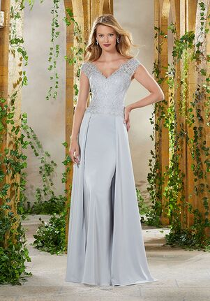MGNY 71906 Blue Mother Of The Bride Dress