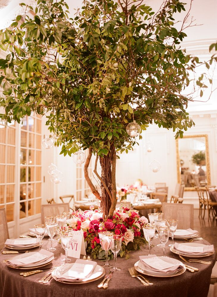 Whimsical Garden-Inspired Tree Centerpieces