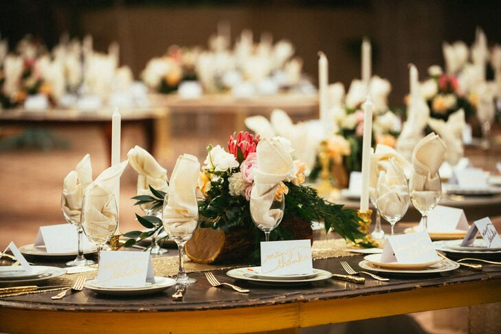 Whimsical Bohemian Black and Gold Dining Tables