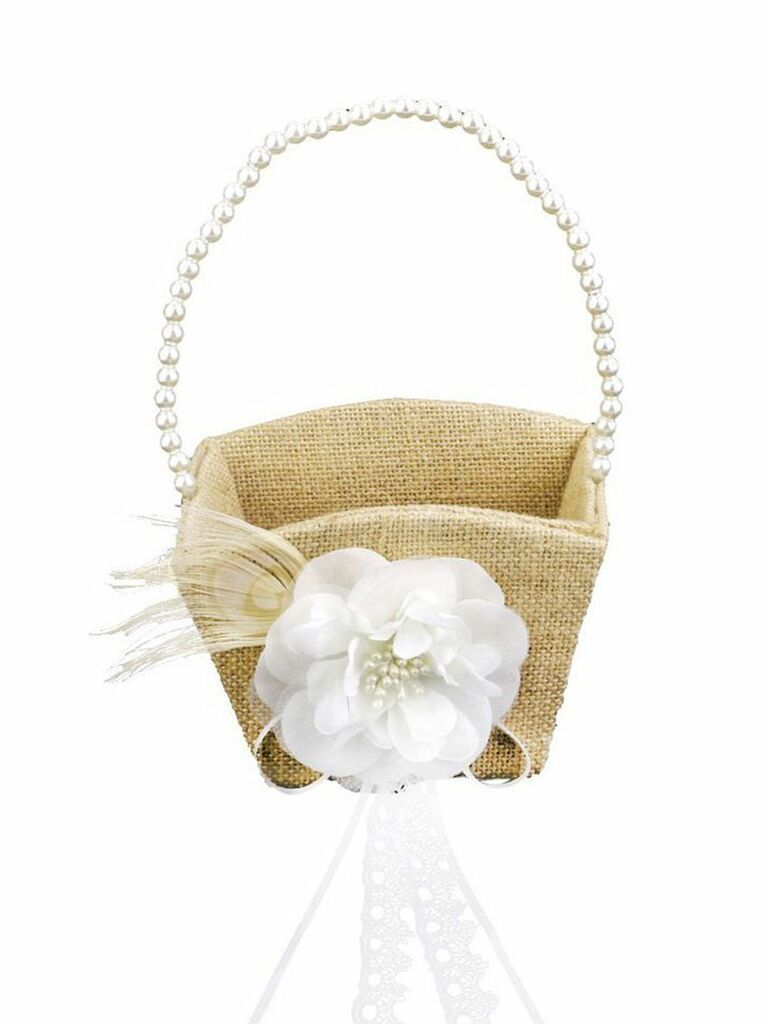 31 adorable flower girl baskets burlap basket mightylinksfo
