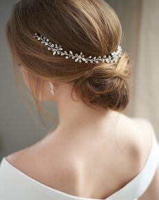 Dareth Colburn Callie Swarovski Crystal Hair Vine (TI-3341) Silver Headband