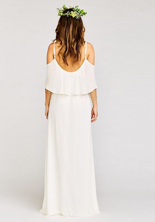 d14823f7141 Show Me Your Mumu Caitlin Ruffle Maxi Dress - Wedding Cake Chiffon Scoop  Bridesmaid Dress