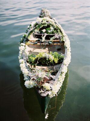 Canoe Covered in Fresh Flowers