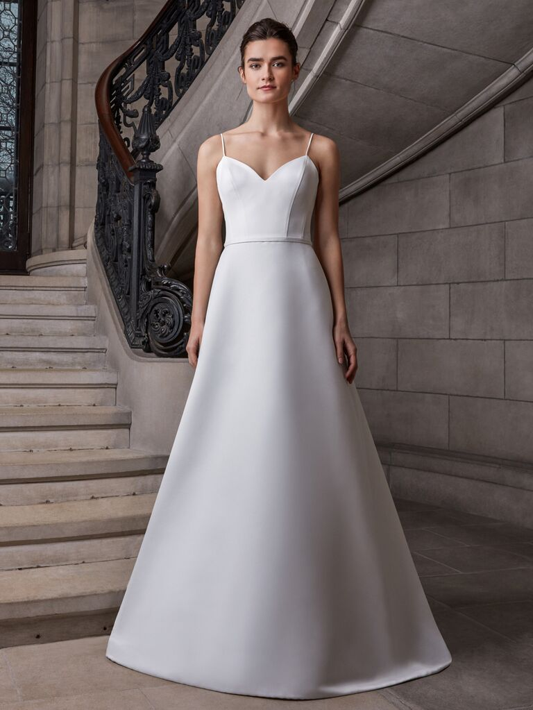 Sareh Nouri Spring 2020 Bridal Collection A-line wedding dress with spaghetti straps