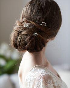 Dareth Colburn Pearl & Rhinestone Hair Pin (TP-2828) Gold, Silver Pins, Combs + Clip