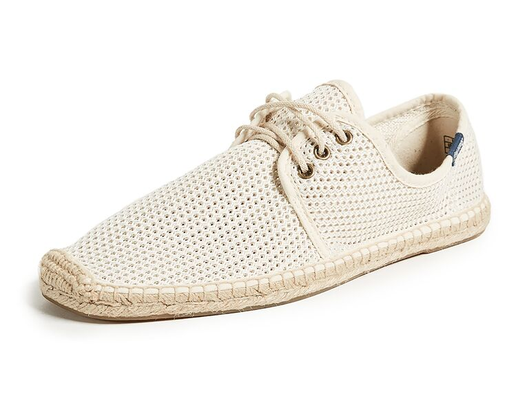 Soludos mesh lace up derby - beach wedding shoes
