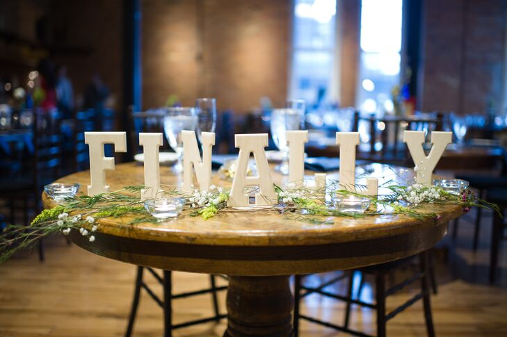 Sweetheart Table Decorative Lettering