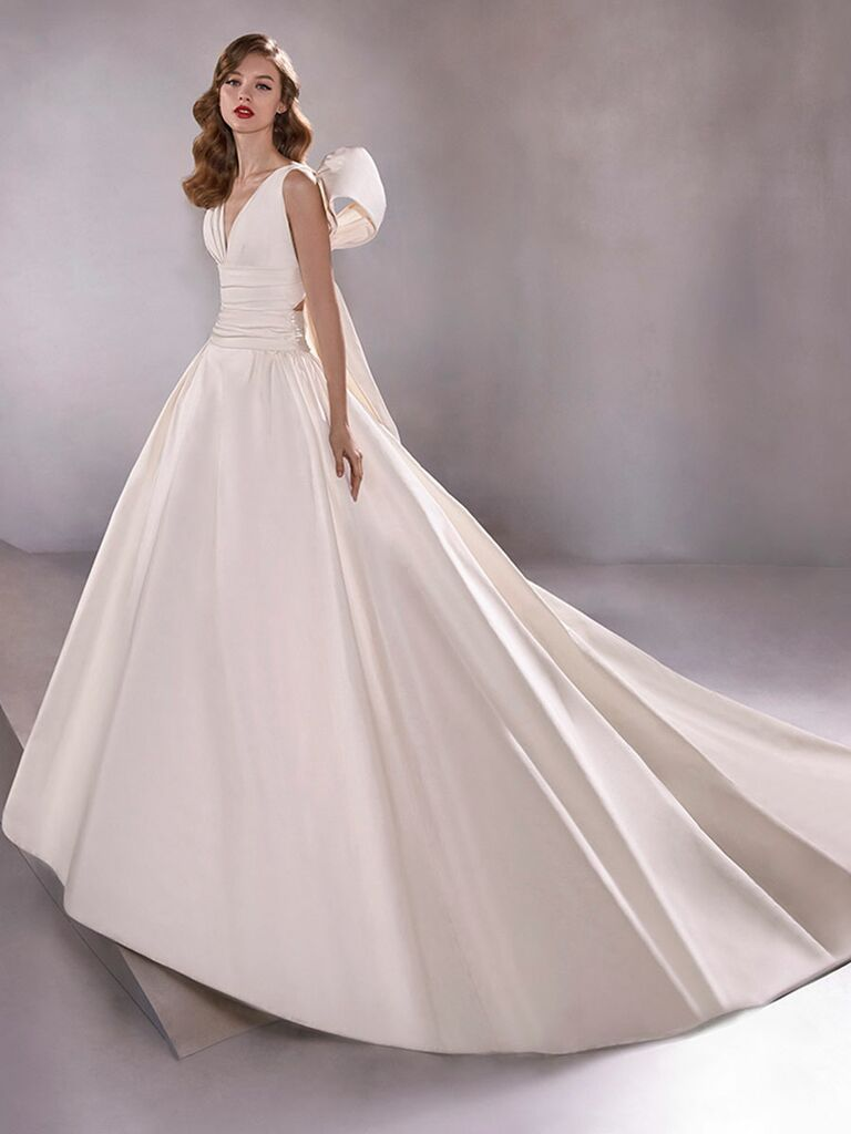 Atelier Provonias wedding dress ball gown with back bow